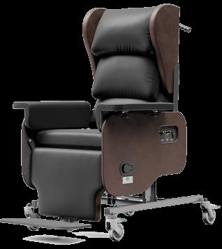 Comfortabel zitten, verstelbare rug en voetensteun, in de diepte verstelbare zitting, kussen verstelbaar in de breedte, tilt-in-space, decubitus preventie, doorligwonden